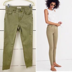 "MADEWELL 9"" High-Rise Skinny Raw Hem Jeans Size 28"